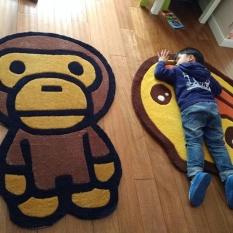 Cocotina A Bathing Ape Bape Baby Milo Carpet Mat Bedroom Rug Living Room Area Floor Decor 73110cm