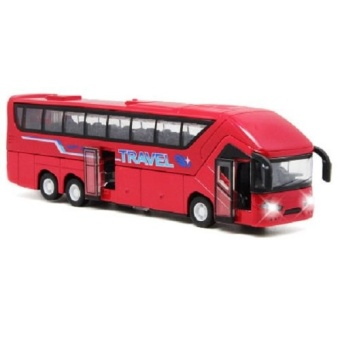 Colof 1:50 Scale Diecast Vehicle Alloy Pull-back Bus Model Toys(Red) - intl