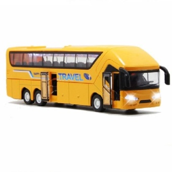 Colof 1:50 Scale Diecast Vehicle Alloy Pull-back Bus Model Toys(Yellow) - intl