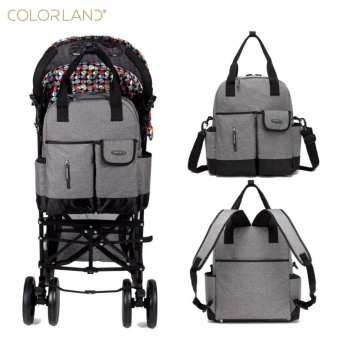 Colorland 31*13*41cm Baby Nappy Diaper Mummy Maternity Travel Bag Organizer Backpack Baby Stroller Bag Mom Handbag Mother Messenger Bags - intl
