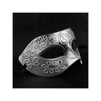 Cool Adult Men Greek Roman Fighter Masquerade Face Mask for FancyDress Ball /Masked Ball /Halloween (Silver) - intl - 3