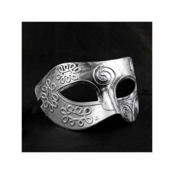 Cool Adult Men Greek Roman Fighter Masquerade Face Mask for FancyDress Ball /Masked Ball /Halloween (Silver) - intl - 4