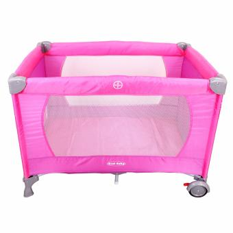 Cool baby Crib Nursery Play yard Playpen Baby gear(PINK)