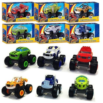 Cool baby Kids Baby Blaze And The Monster Machines Vehicles Diecast Car Toys Good Gifts - intl - 2
