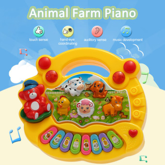 Coolplay Baby Kids Toddler Musical Educational Animal Farm PianoElectronic Keyboard Music Development Kids Toy Yellow - intl
