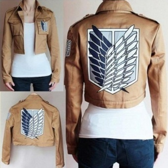 Cosplay Attack on Titan Shingeki no Kyojin Scouting Legion Jacket Coat Costume - intl