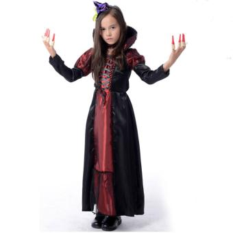 Cosplay Role-Play Vampire Batman Witch Dress Halloween Costumes for Kids Girls(Size L 130-140CM) - intl