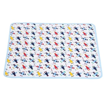 Cotton Baby Urine Pad Waterproof Washable Changing Mat (#2 BlueAirplane) - intl