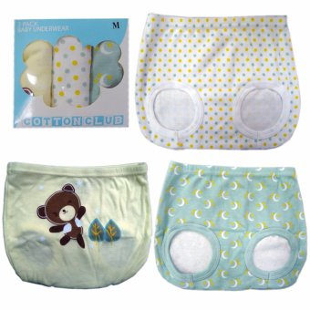Cotton Club baby diaper cover for boy w/ bear design Size Large