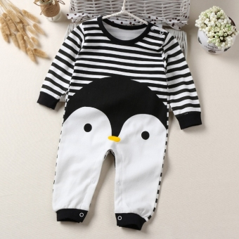 Cotton Spring and Autumn long-sleeved pajamas baby leotard