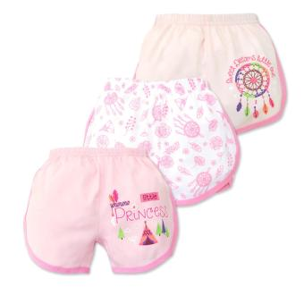 Cotton Stuff - 3-piece Girly Shorts (Little Princess) 3-6 Months