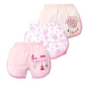 Cotton Stuff - 3-piece Girly Shorts (Little Princess) 6-9 Months