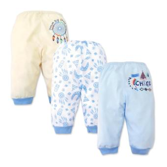 Cotton Stuff - 3-piece Pajama Pants (Little Chief) 9-12 Months