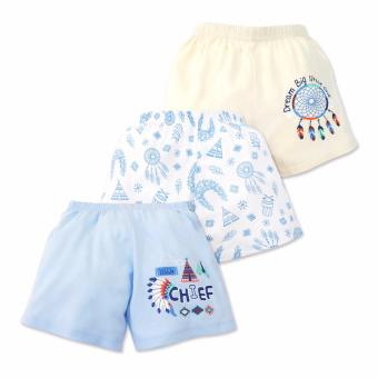 Cotton Stuff - 3-piece Shorts (Little Chief) 6-9 Months
