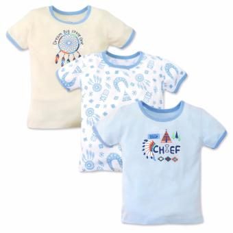 Cotton Stuff - 3-piece T-Shirt (Little Chief) 6-9 Months