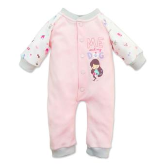 Cotton Stuff - Long Sleeve Over-All - (Me & My Dog) 3-6 Months Price Philippines