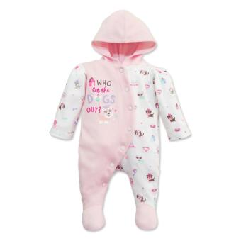 Cotton Stuff - Long Sleeve Sleeper with Hood - (Me & My Dog) 0-3 Months