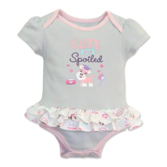 Cotton Stuff - Short Sleeve Bodysuit Dress - (Me & My Dog) 3-6 Months Price Philippines