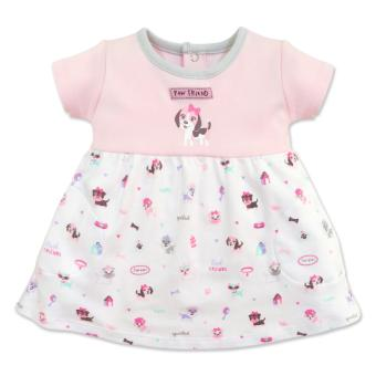 Cotton Stuff - Short Sleeve Twirl Dress - (Me & My Dog) 9-12 Months Price Philippines