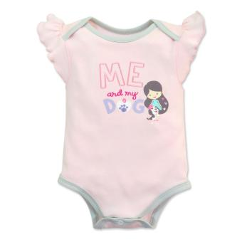 Cotton Stuff - Sleeveless Bodysuit with Ruffles - (Me & My Dog) 0-3 Months Price Philippines