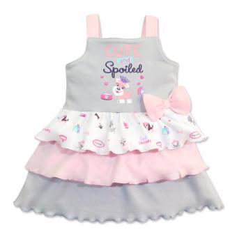 Cotton Stuff - Sleeveless Layered Dress - (Me & My Dog) 6-9 Months Price Philippines