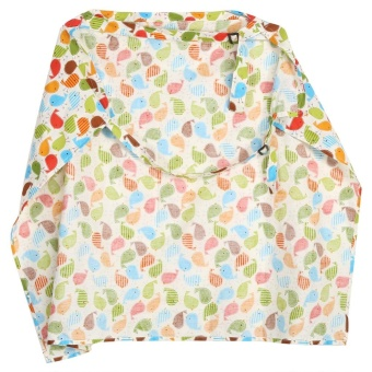 Cotton Women Mother Breastfeeding Cover Baby Infant Feeding Nursing Apron Cloth #Green Birds - intl - 3