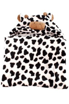 Cow Hooded Blanket (Black/White)