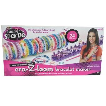 Cra Z Art Shimmer N Sparkle Loom Rubber Band Bracelet