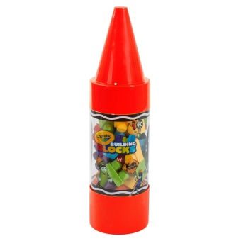 "Crayola Kids@Work 40-Piece Blocks in 22"" Crayon Tube (Red) Price Philippines"