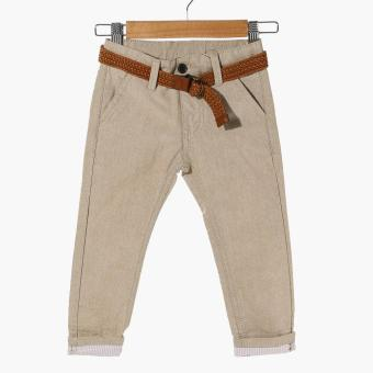 Crib Couture Baby Boys Belted Pants (Khaki)
