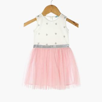 Crib Couture Baby Girls Hearts Tutu Dress (White)