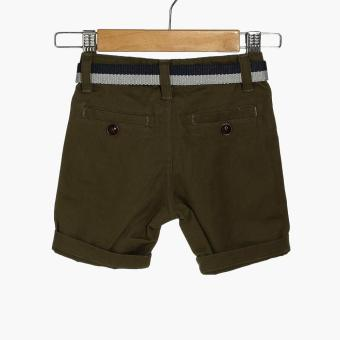 Crib Couture Boys Belted Chinos (Green) - 2