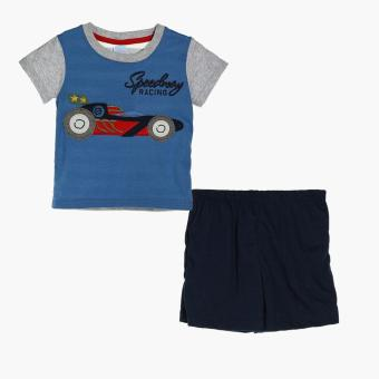 Crib Couture Boys Speedway Racing Tee and Shorts Set (Blue) Price Philippines