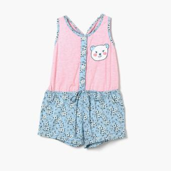 Crib Couture Girls Happy Bear Romper (Pink)
