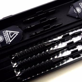 CUESOUL 3pcs/set High Grade Professional Darts 24g 16cm Steel TipDarts With Copper Dart body Aluminum Dart Shaft Black Flight - intl - 5
