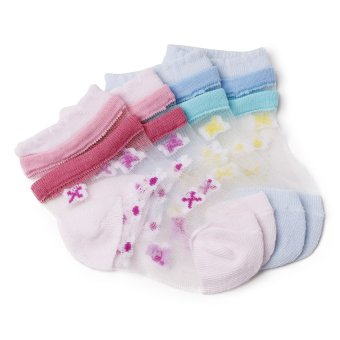 Curity Baby Socks Pack of 2 (Pink/Blue)