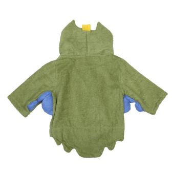Cute Baby Infant Kid Animal Owl Green Hooded Bath Beach Towel Bathrobe - picture 2