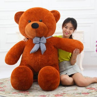 Cute Dark Brown Stuffed Toys Animal Teddy Bear Plush Soft Toy 100CM - intl