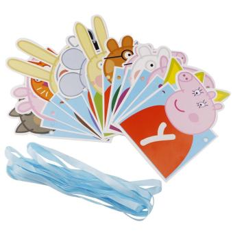 Cute Pig Theme 13 Happy Birthday Flags Birthday Party DecorationBuntings Banner for Kids 56g - 2