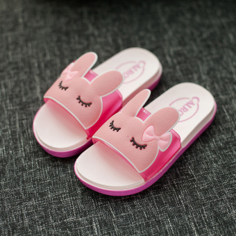 Cute soft bottom female non-slip sandals and slippers children's slippers