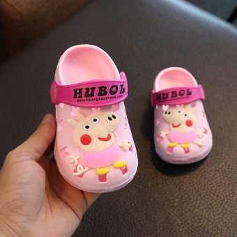 Cute summer men girls Baobao sandals shoes children's slippers