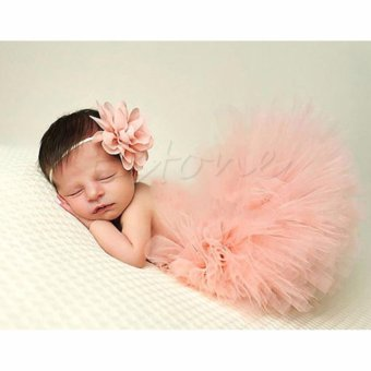 Cute Toddler Newborn Baby Girl Tutu Skirt & Headband Photo PropCostume Outfit - intl