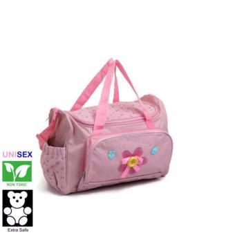 Cutie Beautiful Mornings Diaper Bag (Dark Pink)