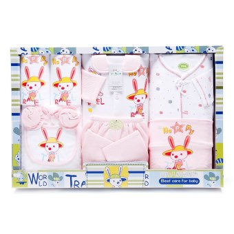 Cutie Infant 9 Piece World Travel Clothes Gift Set (Pink)