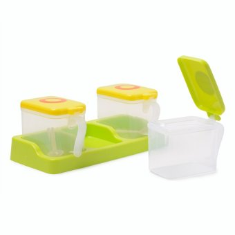 Cutie Milk Container (Apple Green) with spoon