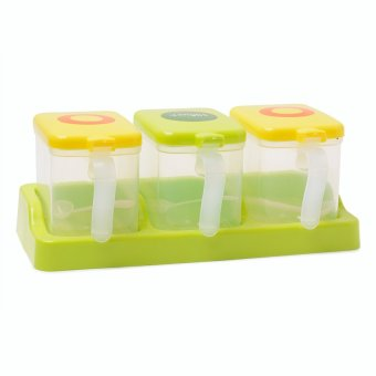 Cutie Milk Container (Apple Green) with spoon - 2