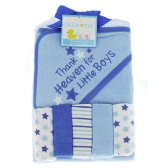 Cutie Pie Hooded Towel And 5-Pack Washcloths - Thank Heaven ForLittle Boys Price Philippines