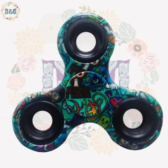 D&D New Printed Fidget Spinner Greatnes Triangle Single FingerDecompression Gyro