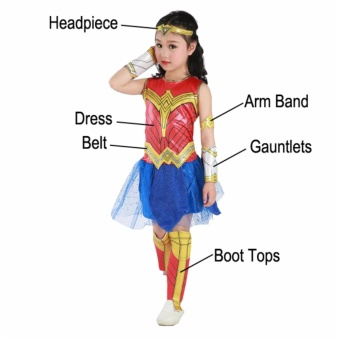 DCB Wonder Woman Costume 2017 Girls Dress Deluxe Size Small Age 3-4years old - 4