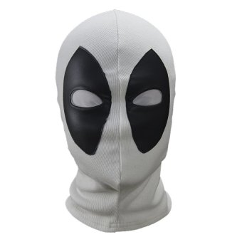 Deadpool Mutant Cosplay Mask Hood Balaclava Face Adjustable forHalloween Party Prop(White)